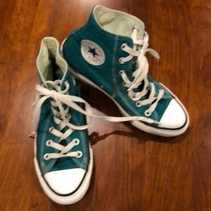 Converse Classic Teal High Tops - M5 W7